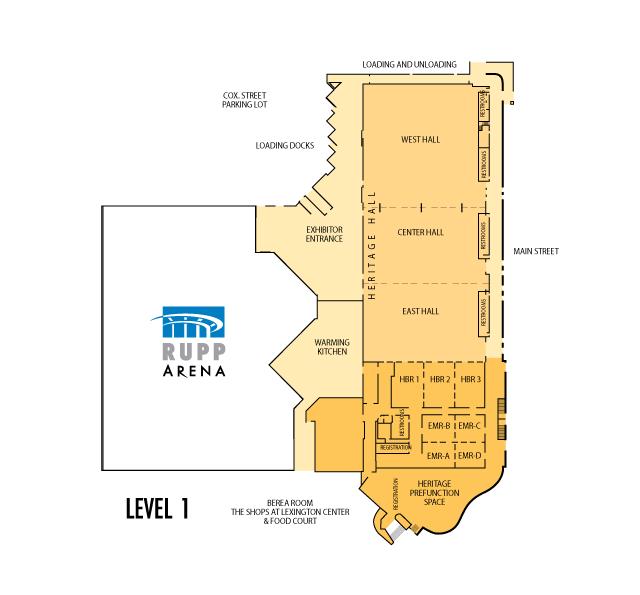 Lexington Center Floor Plans
